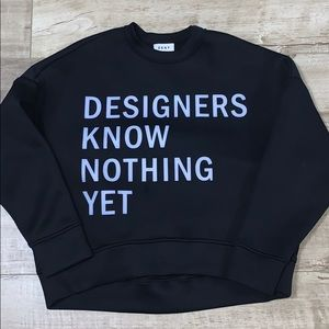 RARE DKNY DESIGNERS KNOW NOTHING YET SWEATER